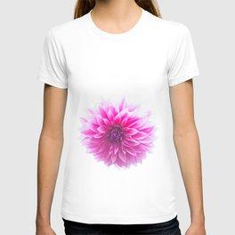 Dahlia On White T-shirt