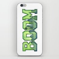 seahawks iPhone & iPod Skins featuring Legion of Boom Seattle 12th Man Art by Olechka