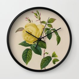 REDOUTE Yellow ROSE Wall Clock