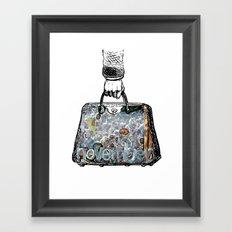 November Suitcase Framed Art Print