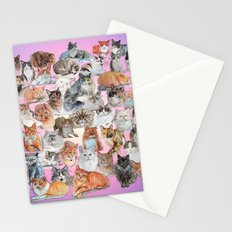 Crazy Cat Collage Stationery Cards