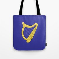 irish Tote Bags featuring Irish Harp by Richard Fay