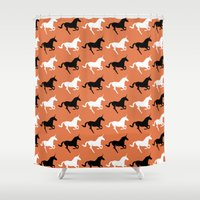unicorns Shower Curtains featuring Unicorns by Fabian Bross