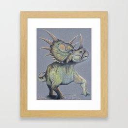 Alpha Styracosaurus Framed Art Print