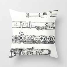 Flöte Throw Pillow