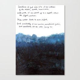 Emocean Poem Canvas Print
