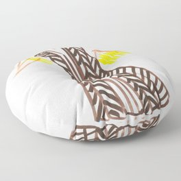 Little Striped Dress Floor Pillow