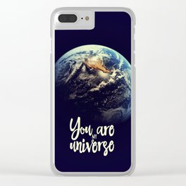 You are my universe Clear iPhone Case