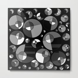 Bubble Grey 11 Metal Print