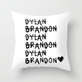Brandon vs. Dylan: Beverly Hills 90210 Throw Pillow