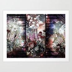 Trippy Botanic Triptich Art Print