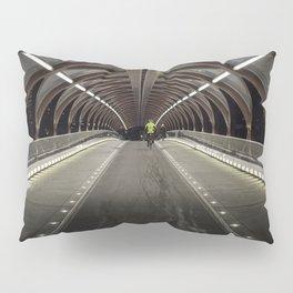 Calgary Peace Bridge Morning Commute Pillow Sham