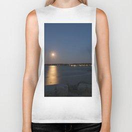 Moon light reflection Rockport Harbor Biker Tank