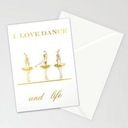 i love dance 2 Stationery Cards