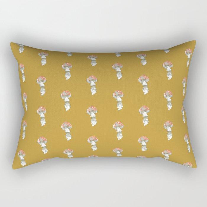 Mushroom Fungus Fly Agaric Camel Simple Rectangular Pillow