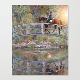 Riding with Monet Canvas Print
