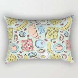 Vintage french style pastel cafe illustration Rectangular Pillow