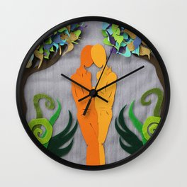 Summer kiss 1 Wall Clock