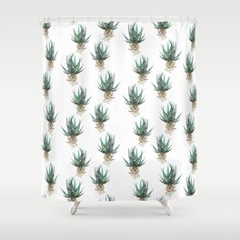 Haworthia Shower Curtain