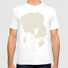 La Boudeuse White MEDIUM Mens Fitted Tee