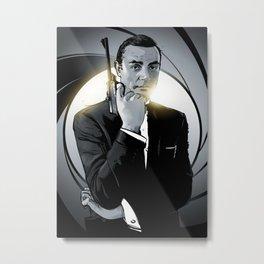 James Bond Metal Print