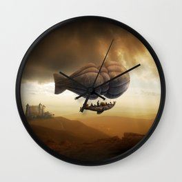 Endless Journey - steampunk artwork Wall Clock
