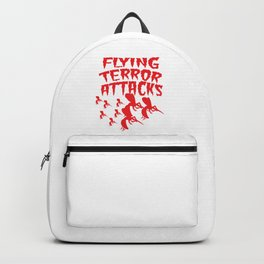 Mosquito Insect Comic Flying Terror Funny Blood Sucker Gift idea Backpack