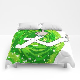 Rick And Mortyy Flip Off Comforters