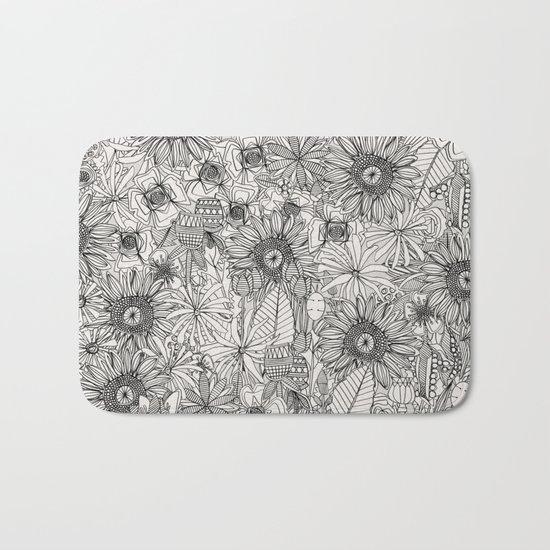 pencil flowers Bath Mat