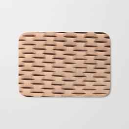 Brown Kraft Paper Weave Texture Bath Mat