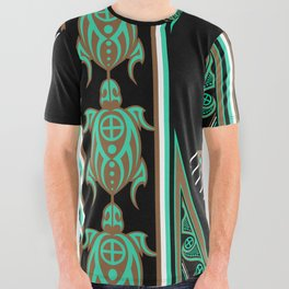 Green Turtle All Over Graphic Tee