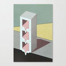 Melt Boxes Canvas Print
