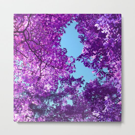 purple tree XXVI Metal Print