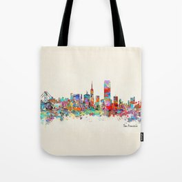 San Francisco skyline Tote Bag