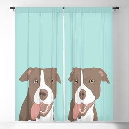 Silly Pit Bull Puppy Blackout Curtain