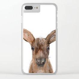 littlest moose Clear iPhone Case