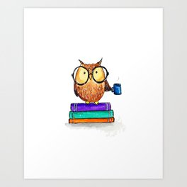 Oliver the Owl Art Print