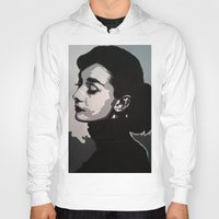 audrey Hoodies featuring Audrey by AUSKMe2Paint