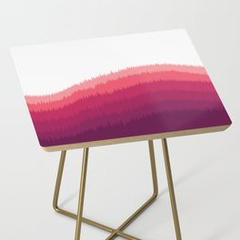 Layered Forest Hills - Purple to Pink Side Table