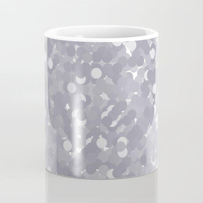 Lilac Gray Polka Dot Bubbles Coffee Mug