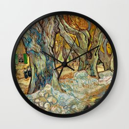 Vincent Van Gogh - The Large Plane Trees Wall Clock