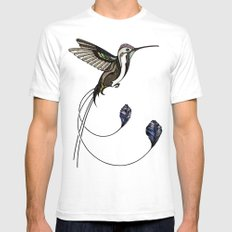 Hummingbird White SMALL Mens Fitted Tee