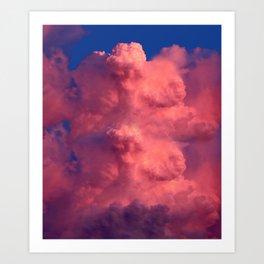 Cloudy Beauty Art Print