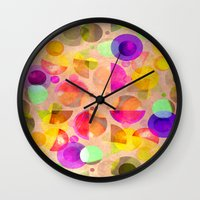 candy Wall Clocks featuring Candy by SensualPatterns
