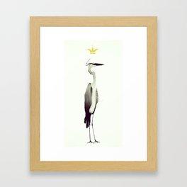Ardeidae || Cousin Heron Framed Art Print
