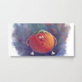 Tomato Dismay by dana alfonso Metal Print