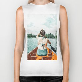 Row Your Own Boat #illustration #decor #painting Biker Tank