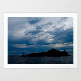 Lighthouse Storm Art Print