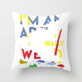 Artist Weird Painter Paint Tool Funny Graphics Gift Throw Pillow