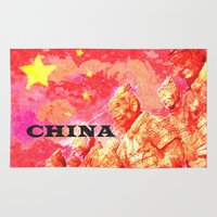 china Area & Throw Rugs featuring China by Brian Raggatt